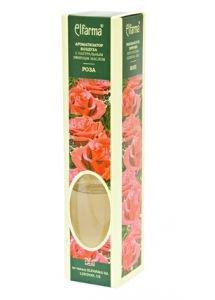 Ароматизатор воздуха с натуральным эфирным маслом роза elfarma эльфарма Elfarma (Эльфарма), 50 мл - Тростниковые ароматизаторы-диффузоры