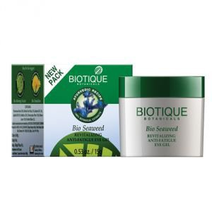 Фото - Гель для кожи вокруг глаз Биотик Био Водоросли (Biotique Bio Seaweed Revitalizing Anti-Fatigue Eye Gel), 15г.