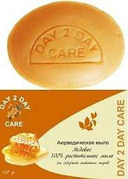 Аюрведическое мыло медовое дэй ту дэй кэр day 2 day care Day 2 Day Care (Дэй ту Дэй Кэр), 100 г. - Натуральное мыло