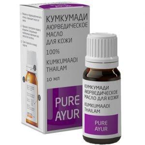 Аюрведическое масло для кожи кумкумади пьюр аюр kumkumaadi thailam pure ayur  Pure Ayur (Пьюр Аюр),  10 мл