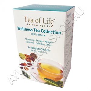 Tea of life ассорти 24 чайных пакетика Tea of Life - Аюрведический чай Tea of Life