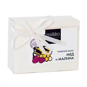 Туалетное мыло мед и малина мико mi&ampampko МиКо (Mi&ampko), 75 г. - Натуральное мыло