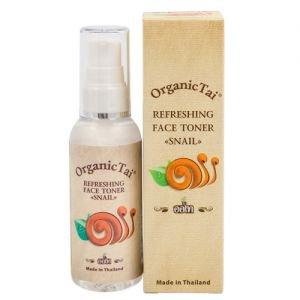 Тоник освежающий для лица с экстрактом улитки органик тай refreshing face toner snail organic tai Organic Tai (Органик Тай), 60 мл. - Уход за лицом