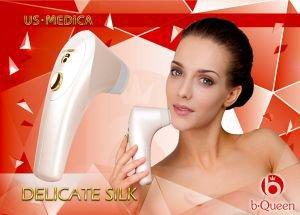 Вакуумный массажер для лица delicate silk розовый US Medica