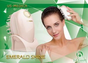 Прибор для мытья и массажа головы emerald shine розовый US Medica - Косметологические приборы