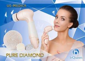 Прибор для ухода за кожей лица и тела pure diamond розовый US Medica