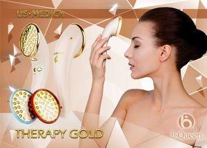 Прибор для led фототерапии therapy gold розовый US Medica