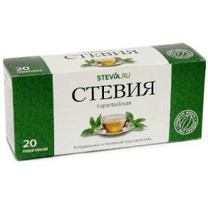 Парагвайская стевия в чайных фильтр-пакетиках Экотопия, 20 шт. - Напитки со стевией