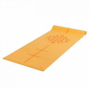 Коврик для йоги leela yantra 183*60*0, 4см,  желтый  Йогин