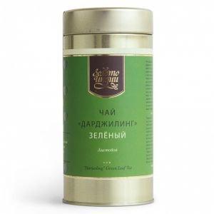 Чай дарджилинг зеленый листовой в мет.банке darjeeling green leaf tea Золото Индии, 100 г. - Травяные чаи, напитки