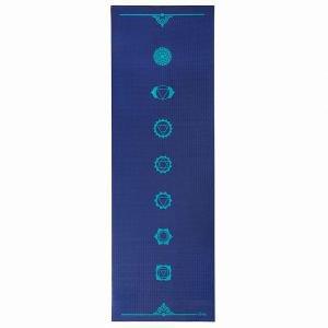Коврик для йоги leela chakras 183*60*0, 4см, темно-синий Йогин - Тонкие коврики (3-4 мм.)