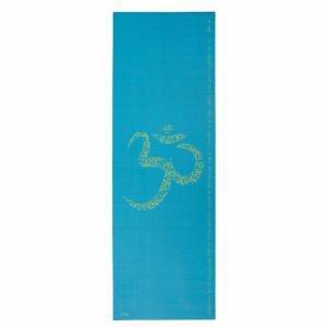 Коврик для йоги leela ом 183*60*0, 4см, морская волна Йогин - Тонкие коврики (3-4 мм.)
