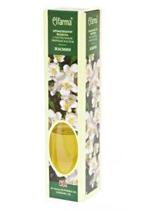 Ароматизатор воздуха с натуральным эфирным маслом жасмин elfarma эльфарма Elfarma (Эльфарма), 50 мл - Тростниковые ароматизаторы-диффузоры