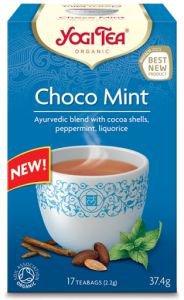 Yogi tea «choco mint» (шоколад с мятой)Аюрведические чаи Yogi Tea<br>Аюрведическая чайная смесь с оболочками какао-бобов, перечной мятой, солодкой.<br>